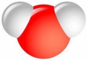 Vattenmolekyl som Musse Pigg