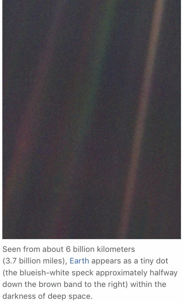 Pale Blue Dot, det foto av Jorden som är taget från längst bort