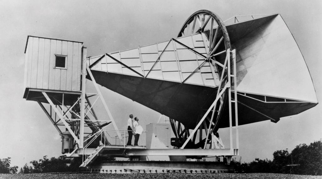 Antennen i Holmdel för studier av radiostrålning från rymden