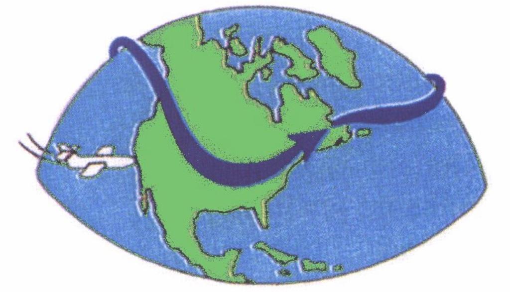 Jetströmmar löper runt Jorden från väster mor öster