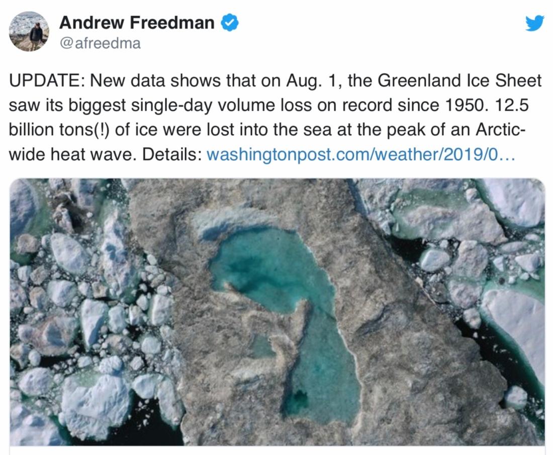 Smältande Grönlandsis